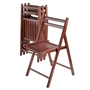 Picture of Robin 4-PC Folding Chair Set Walnut